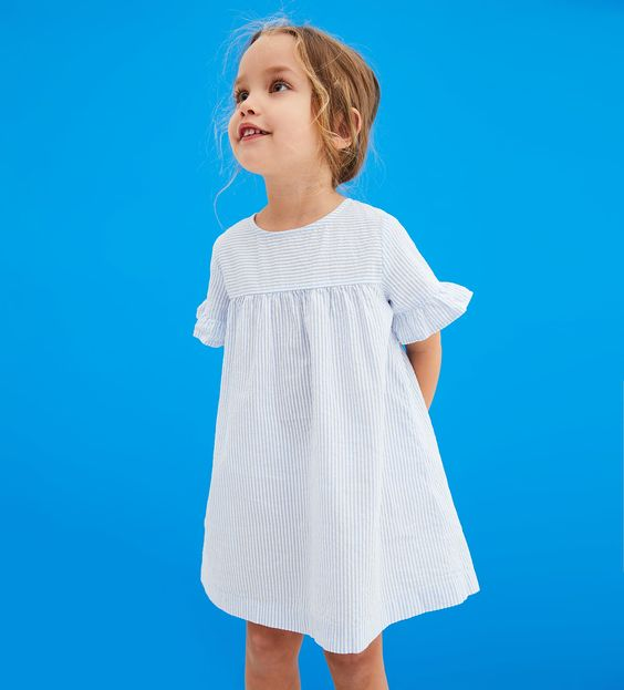 Image 1 Of Dress With Ruffled Sleeves From Zara Baby Girl Dresses Baby Robes Little Girl Fashion