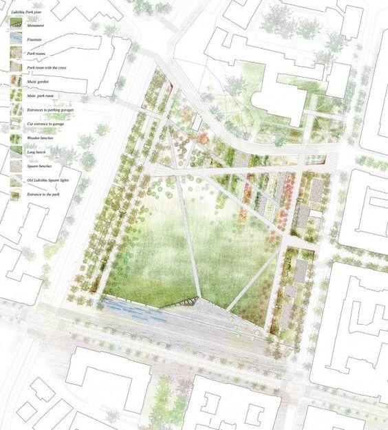 Public space design proposal for lukiskiu square for Garden design proposal