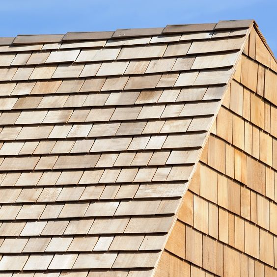 types of roofing materials wood