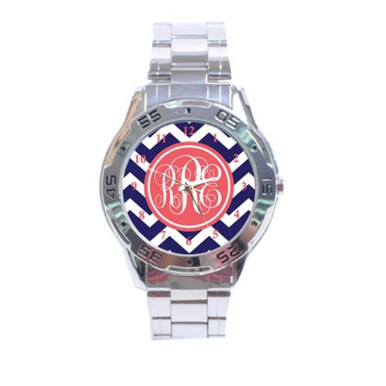 Monogrammed Boyfriend Style Watch Mix and Match by BeauTresors, $24.75