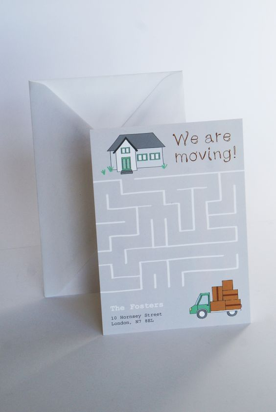 Check out more moving card template on home moving cards Change - change of address templates
