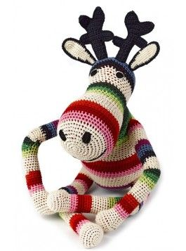 anne claire petit, Reindeer mix stripe | Kuscheltier in Häkeldesign € 79,00