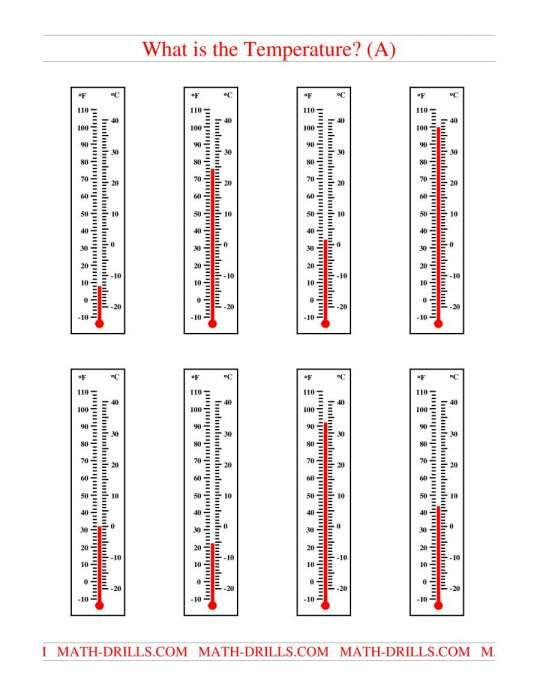 10 Reading Thermometers Worksheet Answers Reading Reading