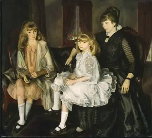 Emma and Her Children 1923  George Wesley Bellows