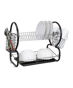 Round Two-Tier Dish Rack by home basics #zulily #zulilyfinds