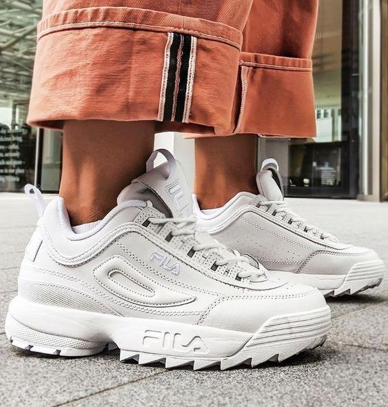 Sneakers | FILA | White sneakers | Inspiration | More on ...