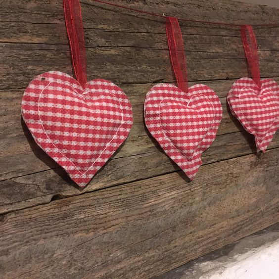 Heart shaped decoration for Christmas tree