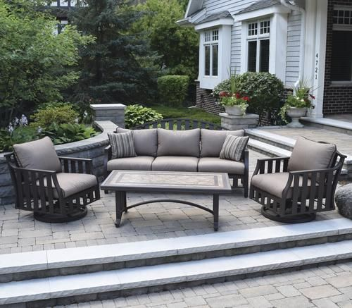 Backyard Creations Glenn Brook Collection 4 Piece Seating Patio Set Patio Patio Set Outdoor Furniture Sets