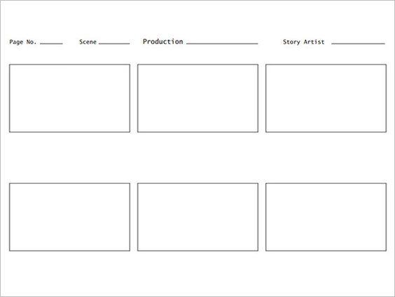 Website Screen Layout Storyboard Template Webpage Storyboard