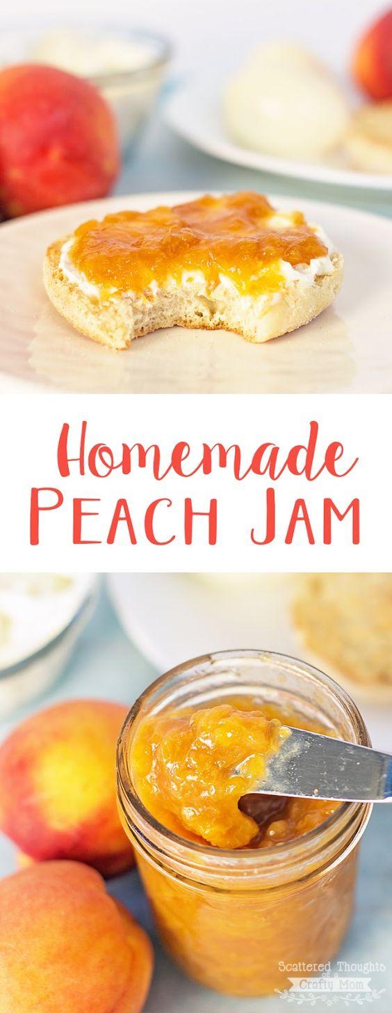 Peach jam, Peaches and Homemade on Pinterest