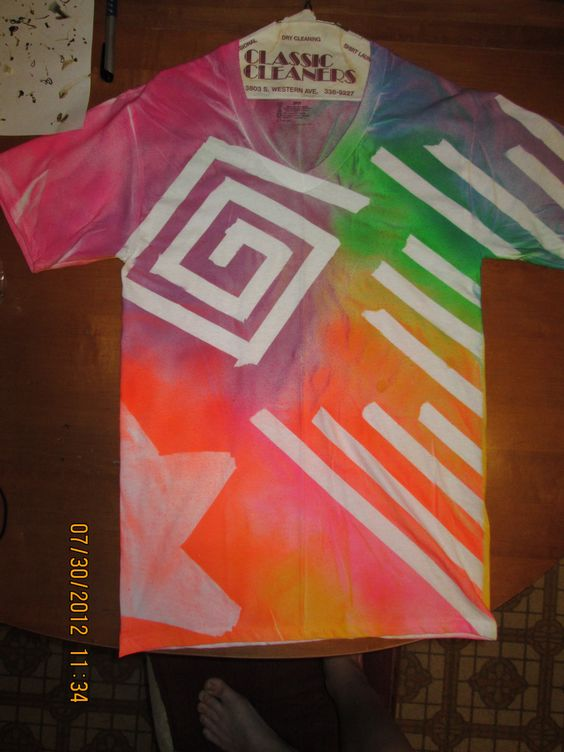 Tape and spray paint t shirt design my art pinterest for Spray paint designs with tape