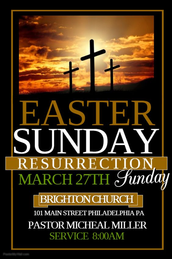 Easter Sunday Flyer. Click on the image to customize on ...