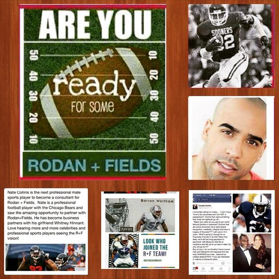 What does R+F have in common with the super bowl?  These football players!  *Michael Archie, former NFL Tennessee Titan - recently announced with his wife, Crystal Archie, as Million Dollar Achievers. *Nate Collins - former NFL Chicago Bears player. *Marcus Dupree - former OU Sooners and L.A. Rams player. *Barron Wortham - former Tennessee Titan and Houston Oiler. *Matt Singletary former NFL player and son of legendary Mike Singletary of the Chicago Bears. www.allysonbold.myrandf.biz #skin