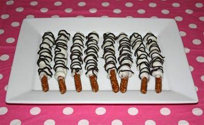 Zebra Caramel Pretzels