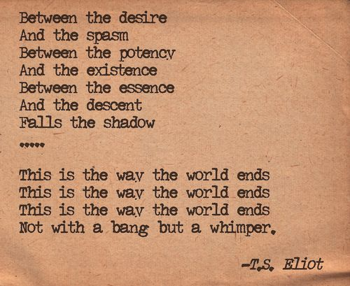 writing style of ts eliot For the uninitiated reader, eliot's poems present a number of difficulties: erudite  allusions,  significant form, style, or artistic conventions  as well as in his  plays of the '30s and '40s, it seemed to many that he had become a different  writer.