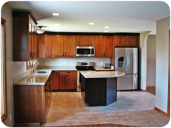 Mid continent solid surface and chocolate glaze on pinterest - Mid continent cabinets ...