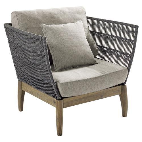Cade Coastal Regatta Rope Acacia Wood Outdoor Lounge Chair Lounge Chair Outdoor Best Outdoor Furniture Furniture