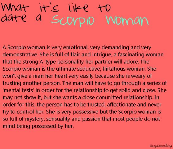 Dating a scorpio girl