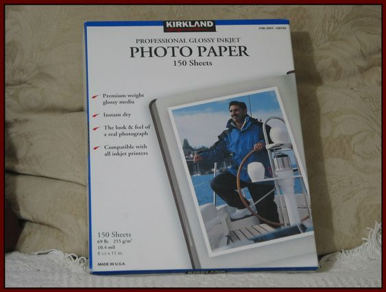 KIRKLAND Collectible Last Made In The U.S.A. 69 lb 8 1/2 X 11 Glossy Photo Paper 150 Sheet Bundle  IMG 1517  http://ajunkeeshoppe.blogspot.com/