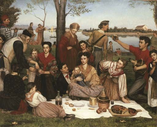 Valentine Cameron Prinsep A.R.A. La Festa di Lido. Prinsep served in The Artists Rifles for 25 years.