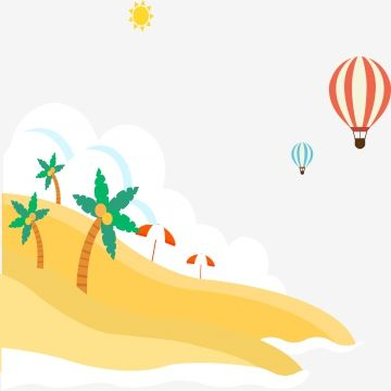 Summer Summer Clipart Sandy Hot Air Balloon Png And Vector With Transparent Background For Free Download Summer Clipart Air Balloon Clip Art