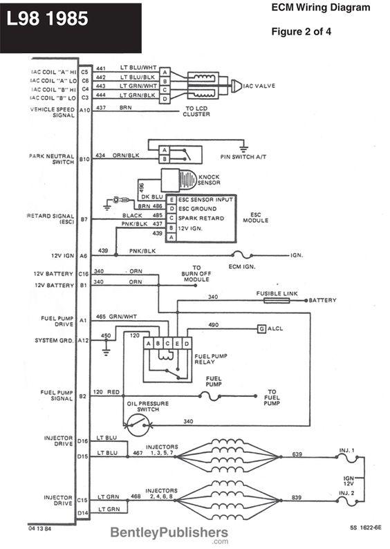 Wiring Diagram - L98 Engine 1985-1991 (GFCV) - Tech - Bentley ...