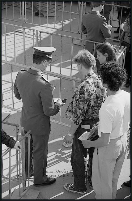 German guards checking papers
