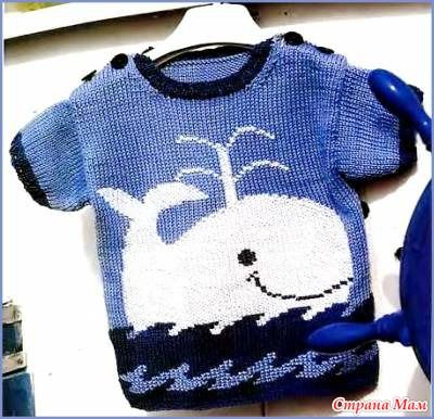 """Пуловер с мотивом """"Кит"""". Вязание для мальчиков.Sandra extra 2006 - Вязание для детей - Страна Мам"""