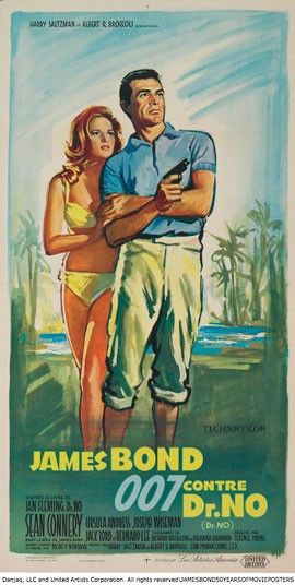 Dr. No (1962) French edition  James Bond: 50 Years of Movie Posters   https://www.youtube.com/user/PopcornCinemaShow