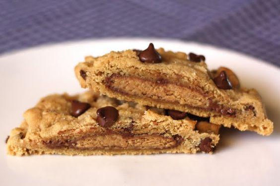 Reeses Stuffed Chocolate Chip Cookies
