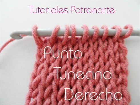 Aumenta tus conocimientos en punto con este tutorial que nos enseña a hacer punto tunecino derecho.