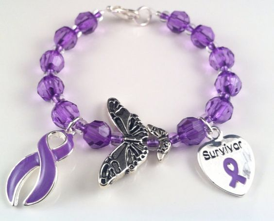 Lupus Awareness Butterfly Bracelet by QuietMindDesigns on Etsy, $17.50