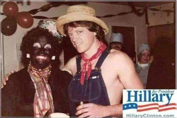 Blackface Hillary Clinton (VERY RACIST PHOTO)