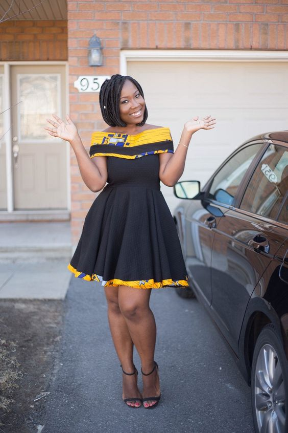 c756e1ffe66 Modele robe africaine robe en pagne tendance robe trapeze. Brenda Chuinkam  est une blogueuse d origine camerounaise basée au Canada et connue sous le