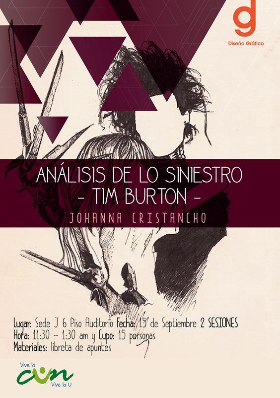 Análisis de lo siniestro - Tim Burton Info: Programa Diseño Gráfico CUN https://goo.gl/cvFN1n #disgraficun