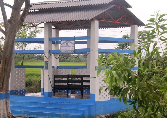 Crematorium along with waiting room constructed from ISGPP BG at Gopalbati GP, Dakshin Dinajpur district