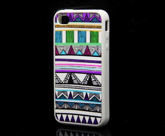 Rubber Case Native American Pattern White  C by geekdecoshop, $15.00