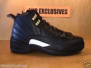 nike chaussures personnalisées il est - Nike Air Jordan XII Retro 12 The Master Black Rattan White Gold ...