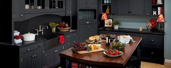 """CABINET- FINISH (PAINT/STAIN)  COLOR ONLY -SCHROLL CABINETS- Paint is """"Prairie Night""""- Prairie Collection - Schroll Cabinets"""