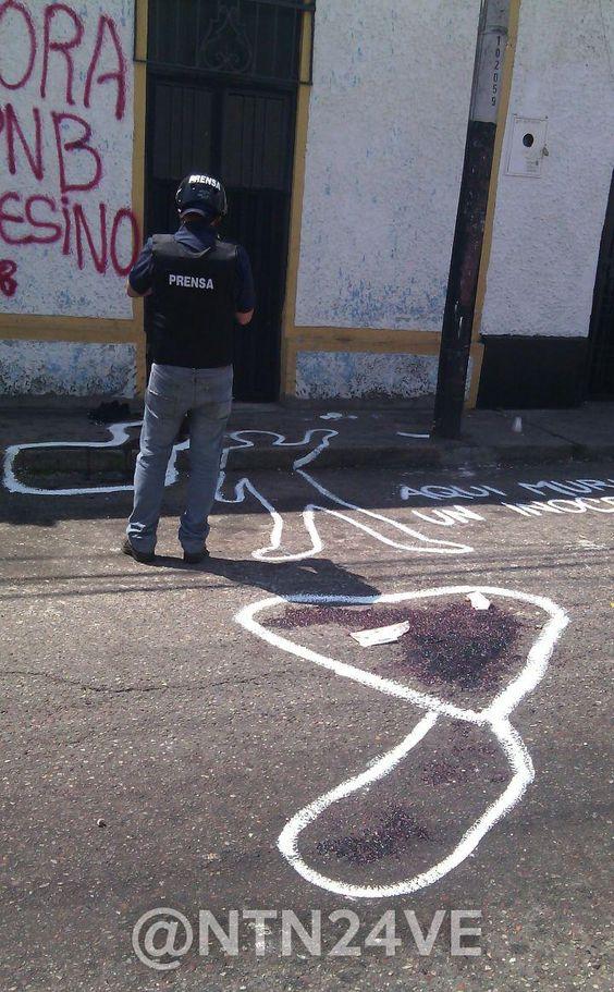 #LaFotoNTN24 Así quedó el lugar donde asesinaron al estudiante Kluiverth Roa