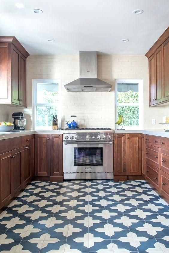 Blue And White Floor Tiles Kitchen Blue And White Tile Floor With