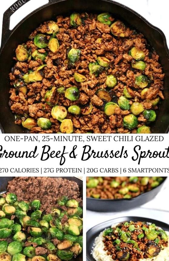 If Youre A Fan Of Simple Low Calorie Meals Youll Love This Sweet Chili Ground Beef And Bru In 2020 Ground Beef Recipes Healthy Healthy Ground Beef Healthy Beef Recipes