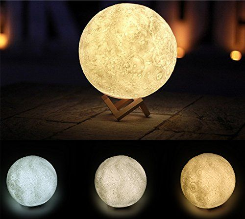 Night Light 3d Printing Moon Lamp 3 Colors Dimmable Touc Https Www Amazon Com Dp B074qkvxcx Ref Cm Sw R Pi D Baby Night Light Night Light Led Night Light