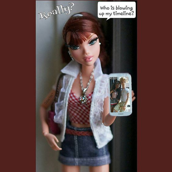 Chelz: #BlowingUpMyTimeLine #Really ?? I kept hearing my celly go off! @MadisonWestley #MyScene #barbie #dolltoyartistry #dollstagram #Mattel #dolls #toyartistry_elite #toyartistry #Photography Enjoy! | Flickr - Photo Sharing!