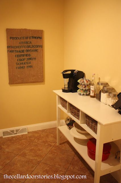 The Cellar Door Stories: Coffee Bar Decor
