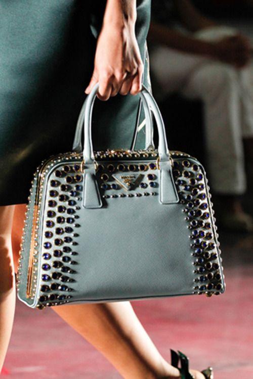Prada - studded handbags 2012