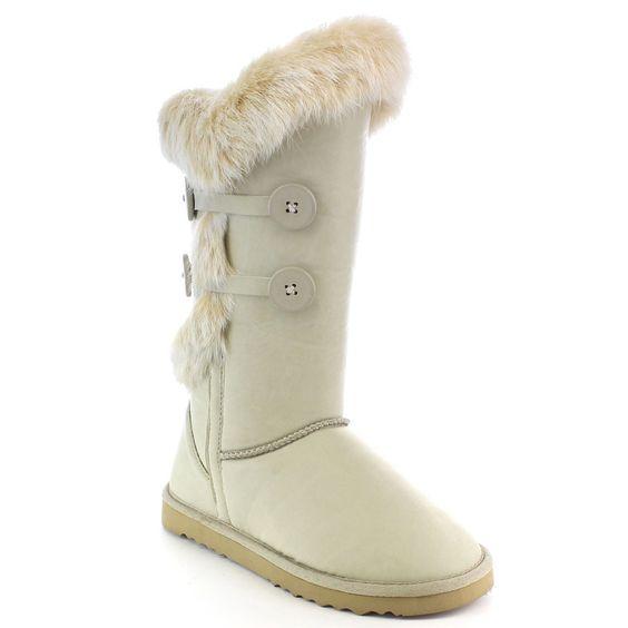 Beston Fa14 Women's Fashion Faux Mid-calf Warm Snow Boots