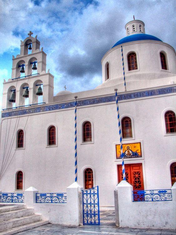 Church in Oia, Santorini. Photo by Krys