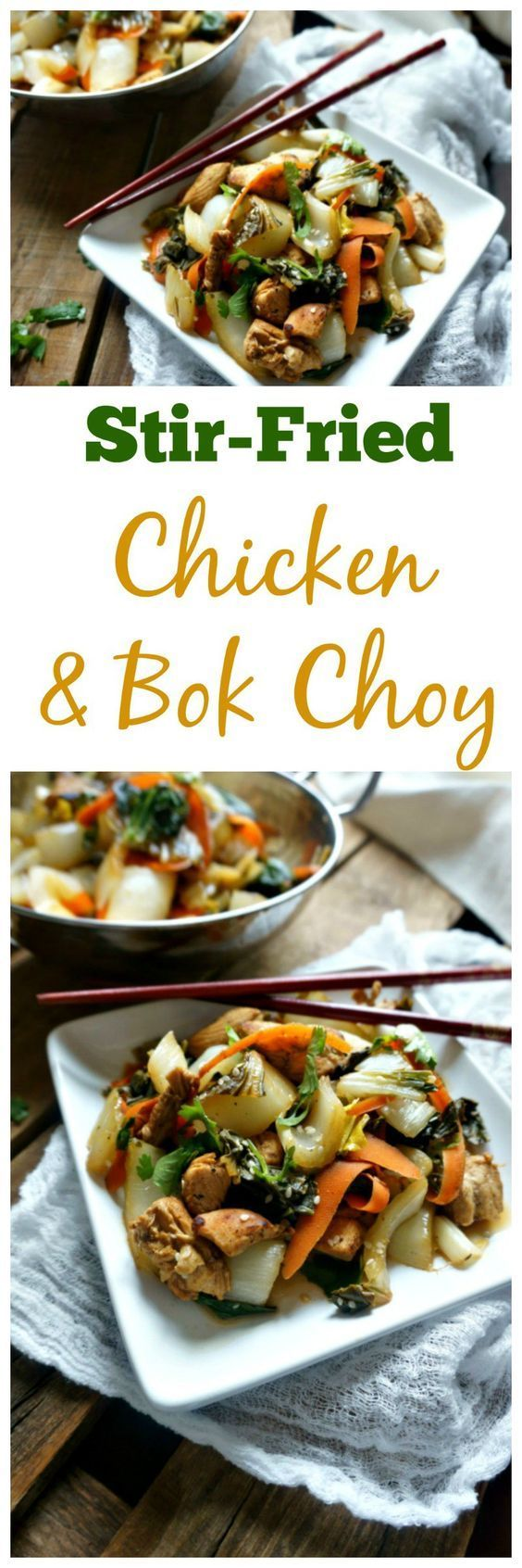 Stir-Fried Chicken and Bok Choy | Recipe | Sauces, Spicy ...
