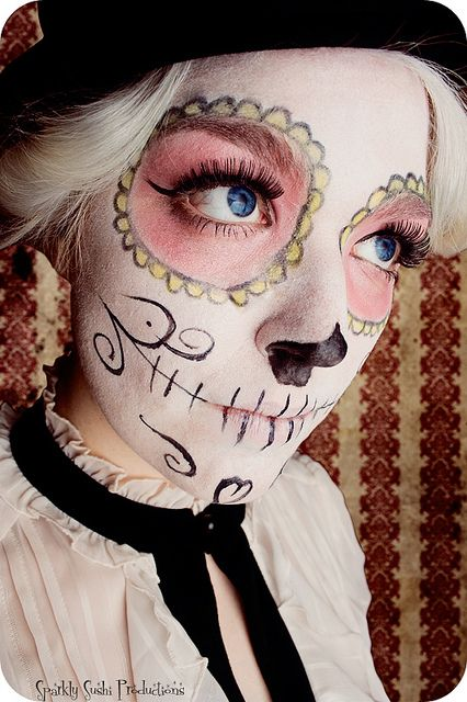 By Sparkly Sushi Productions #dia #muertos #day #dead #makeup #skull #mexican